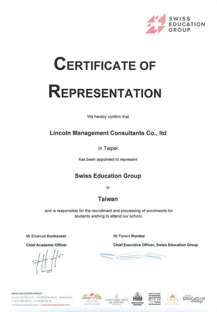 Certificate Lincoln
