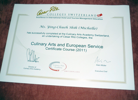 Michelle-certificate